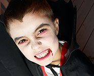 Learn how to make your face look like a blood-sucking vampire's!  Homemade face paint!