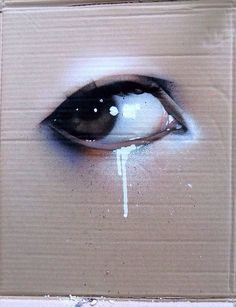 Air brush art. Vibrant. Tears. Eyes. Sadness.