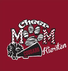 Glitter Cheer Mom Shirt by WhitefishCreations on Etsy, $25.00