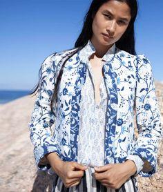 Celia Block Print Jacket – Alix of Bohemia Printed Cotton, Printed Shirts, Print Jacket, Modern Bohemian, Unique Fashion, Fashion Forward, Summer Dresses, Sewing Projects, Mens Tops