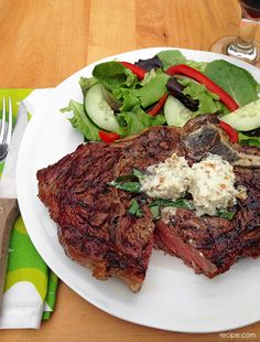Steaks with Gorgonzola Butter
