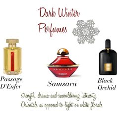 Dark Winter Perfumes by expressingyourtruth on Polyvore featuring beauty, Guerlain, Tom Ford, L'Artisan Parfumeur and Eliot Danori