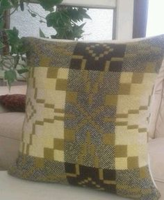 Welsh blanket cushion cover tapestry wool HANDMADE VINTAGE UPCYCLED | eBay