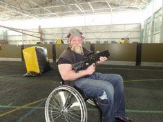 Wheelchair Laser Tag Adaptive Sports
