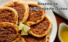 Esfiha dukan todas as fases Points Plus Recipes, No Carb Recipes, Vegetarian Cooking, Vegetarian Recipes, Wheat Belly Recipes, Blood Type Diet, South Beach Diet, Low Carbohydrate Diet, Dukan Diet
