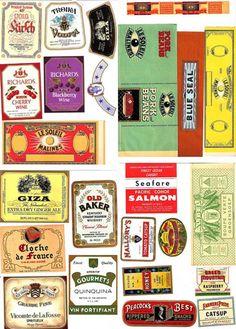 Rótulos Vintage para Imprimir e DecorarDepois de limpar a superfície, cola-se o rótulo com cola comum e aplica-se verniz spray incolor para proteger a ilustração.