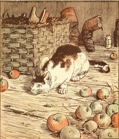 "Illustration by Randolph Caldecott from ""The House that Jack Built - One of R. Caldecott's Picture Books""; Frederick Warne  Co. Ltd. (1878)"
