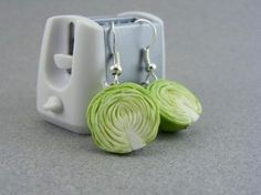 Earrings In Style Funny Pendants and earrings in the form of food – Part 3 - Here are awesome creative pendants and earrings made in the form of food for creative crazy girls. Check Out Part and Part - 2 Also Jewelry Shop, Diy Jewelry, Jewelery, Jewelry Making, Funky Earrings, Pendant Earrings, Crazy Girls, Antique Jewelry, Bling