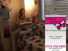 """""""Whatever the cause of your hair loss, Andrea's Hairoom can help! We specialise in Custom Made & Ready Made Wigs and Hairpieces and also offer a full cutting and styling service. So many people suffer in silence with hair that is thinning or rapidly falling out and getting patchy and there comes a point when the creative arts of camouflage and tins of hairspray are no longer successful. This is when the need for professional help is greatly needed.""""…"""