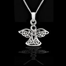 Celtic Angel Silver Pendant