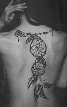 back dreamcatcher tattoo