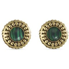 House Of Harlow 1960 Green Malachite Cuzco Stud Earring ($22) ❤ liked on Polyvore featuring jewelry, earrings, green, house of harlow 1960, green earrings, resin jewelry, stud earrings y green stud earrings