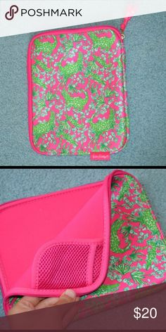 Lilly Pulitzer IPad Case In like new condition! Perfect for any Lilly lover💕 Lilly Pulitzer Accessories Laptop Cases