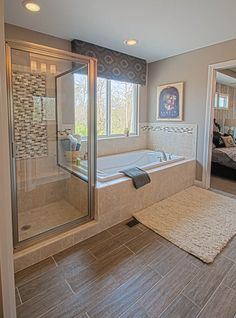 This Bathroom Decor Concept makes it extremely simple to provide your bathroom a fresh make over, with a mix of Do It Yourself and also Inexpensive, you can make the Master Bathroom, Half, for Homes…More Bathroom Layout, Modern Bathroom Design, Bathroom Interior Design, Small Bathroom, Master Bathroom Tub, Bathroom Trends, Bathroom Renovations, Bathroom Ideas, Master Bath Remodel