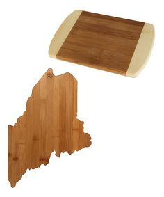 Love this Maine State Bamboo Cutting & Serving Board by Totally Bamboo on #zulily! #zulilyfinds