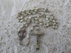 1930's rosary destash Mother of pearl by Nkempantiques on Etsy