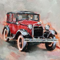"""Daily Paintworks - """"Would you like a ride ?"""" by Emmanuelle Mertian de Muller"""