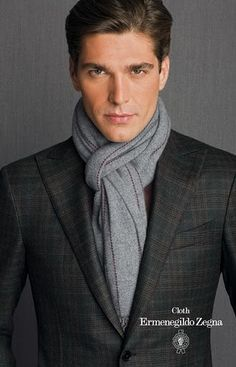 mens suits with scarfs - Google Search