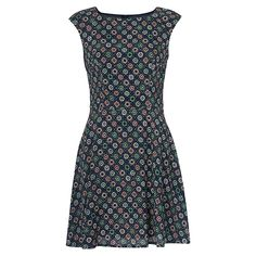 Buy French Connection Medina Tile Drop Dress, Mineral Green Multi | John Lewis