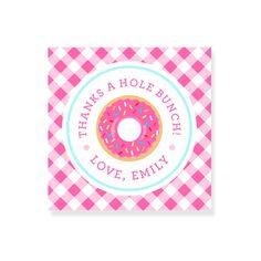 Donut Party Favors  Doughnut Birthday Party by SunshineInkStudio