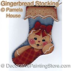 Gingerbread Stocking by Pamela House - PDF DOWNLOAD