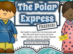 Get ready to smell the hot chocolate and feel the cold wind as you and your students take a ride on the Polar Express with this classroom freebie!  It includes a letter you can send home to parents about the day of your Polar Express Pajama Party. Also includes a cute printable your students can fill out after either listening to the story, watching the movie or it would be great in a reading station! Color and black/white versions included.