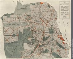 Plan for San Francisco in 1905, never realized