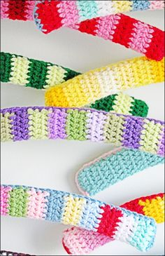 Flickr - Coco Rose1  Crochet Coat Hangers