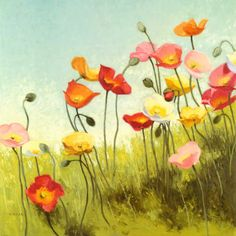 I love love looooove poppies! I want this hanging where I would see it in the mornings!