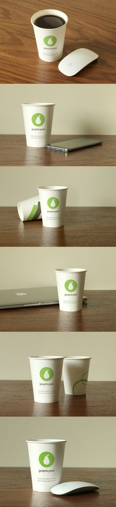 Free Download paper cup mockup PSD file