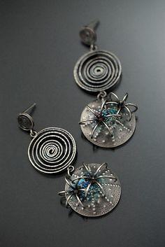 Castanea Earrings: Sooyoung Kim: Silver & Stone Earrings - Artful Home
