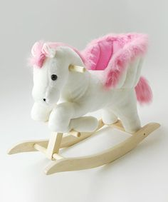 pink horse ride on baby nursery cool bee animal rocking horse