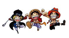 Sabo, Luffy, and Ace.