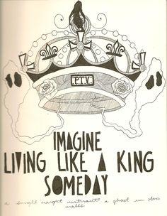 Pierce+The+Veil+Lyric+Drawings | drawing art music lyrics Kellin Quinn pierce the veil king for a day