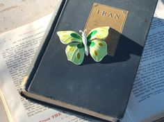 West German Vintage Butterfly Brooch ON SALE by blessedvintage, $17.00