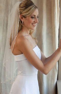 beaded wedding veil