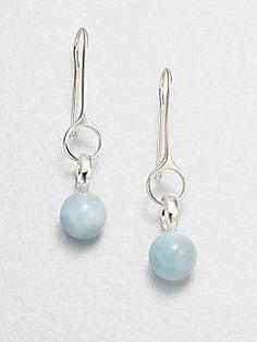 5c05280e6 Georg Jensen Aquamarine and Sterling Silver Earrings #mysilverjewellery  Jewelry Design, Designer Jewellery, Diy