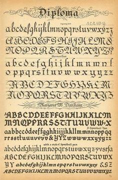 Diploma de tipografía: