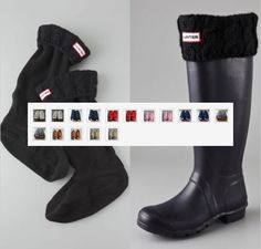 WORLDWIDE FREE SHIPPING   Hunter Wellington Rain Boots Knitted and Fleece Socks   Please leave me a message what color and size need you.   Colors:  Black Red White Navy Pink Beige Brown Grey Green  S