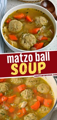 7 reviews · 60 minutes · Serves 4 · An easy chicken matzo ball recipe perfect for the cold weather! This comfort food recipe for dinner brings chicken, carrots, celery and onions together in a lightly seasoned chicken broth with light… More Chicken Matzo Ball Soup Recipe, Matzo Ball Recipe, Soup Recipes, Dinner Recipes, Chowder Recipes, Bread Recipes, Stew And Dumplings, Matzo Meal, Chicken Seasoning