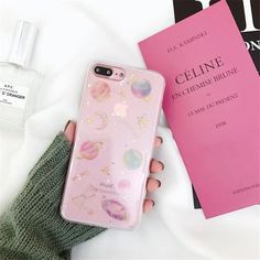 DCHZIUAN Planet Stars Glitter Bling Soft Case For iPhone 6 6s 7 8 Plus – Touchy Style