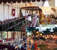 Décoration mariage médiéval    http://magazine.zankyou.com/pt/wp-content/uploads/2011/04/mesas-medieval.jpg