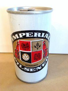 Imperial Pilsener Pull Tab Straight Steel Beer Can