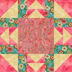 Goose Frame Quilt Block Pattern - Janet Wickell