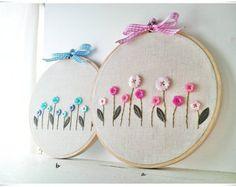 Embroidery wall hoop art Poppy Flower by KawaiiSakuraHandmade
