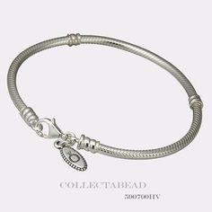 Authentic Pandora Sterling Silver Bracelet with Lobster Lock 7.5 590700HV #Pandora