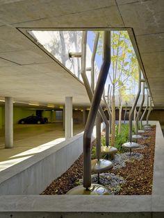 Gallery of Widmi Building / am-architektur - 2 - interior design Green Architecture, Architecture Details, Landscape Architecture, Patio Interior, Interior And Exterior, Urban Landscape, Landscape Design, Parking Building, Parking Design