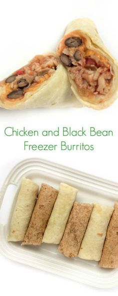 Chicken and Black Bean Freezer Burritos - The Lemon Bowl