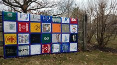 Check out this extra-long, twin-size traditional style quilt with block sashing! What a story it tells for this special graduate-sports, travel, middle school days, high school days, and an adorable t-shirt with an childhood photo. It was backed with a super soft flannel. High School Days, Middle School, Memory Quilts, Childhood Photos, Quilt Making, Making Out, Flannel, Twin, How To Memorize Things