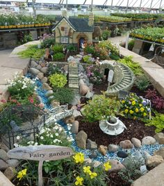 Gigantic fairy gardening scene. Just awesome!